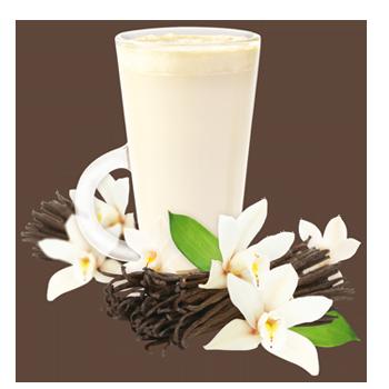 Préparation pour boisson à la vanille